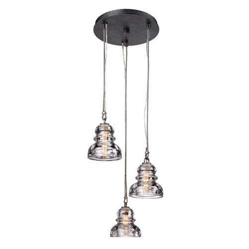 Mill & Mason Sullivan Aged Pewter Three-Light Mini-Pendant