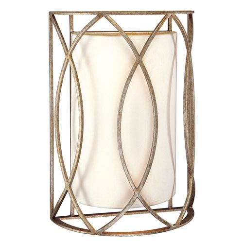 Coco Silver Gold Two-Light Wall Sconce
