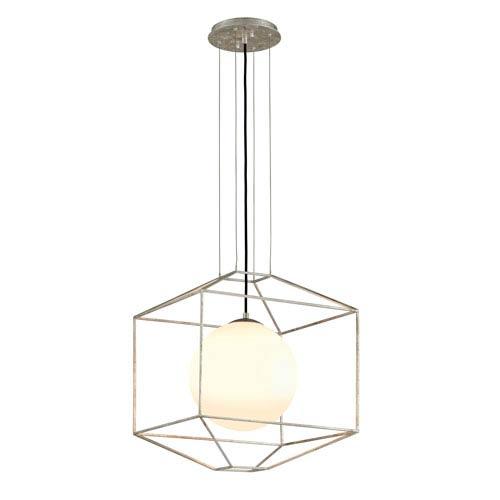Mill & Mason Wooster Silver Leaf 18-Inch One-Light Globe Lantern Pendant