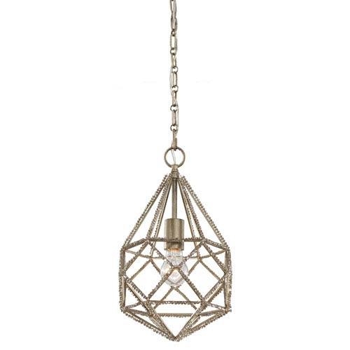 Mill & Mason Gemma Burnished Silver One-Light Mini-Pendant