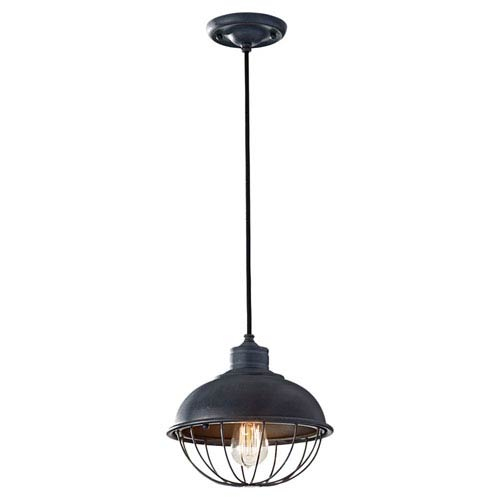 Calverton Antique Forged Iron One-Light Pendant