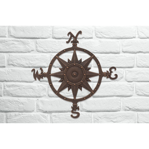 Nautical Oil Rubbed Bronze Compass Rose Wall Décor