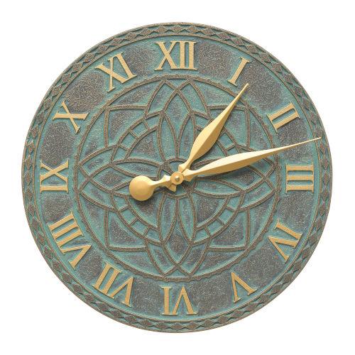 Artisan Bronze Verdigris Indoor Outdoor Wall Clock