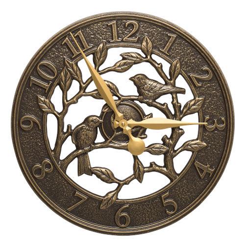 Woodridge French Bronze Indoor Outdoor Wall Clock