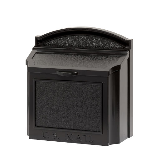 Black Wall Mailbox