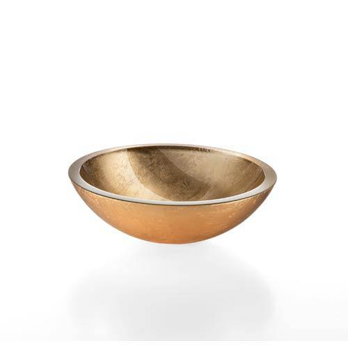 Linea Gold Leaf Large Vessel