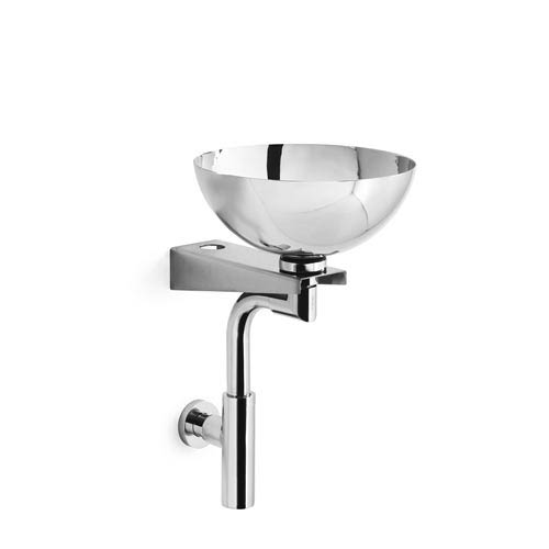 Ws Bath Collections Linea Stainless Steel 11 4 Inch Wall Mounted Sink
