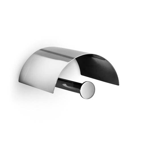 Baketo Polished Chrome Toilet Paper Roll Holder with Cover