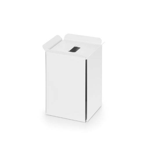 WS Bath Collections Complements White Bathroom Waste Basket