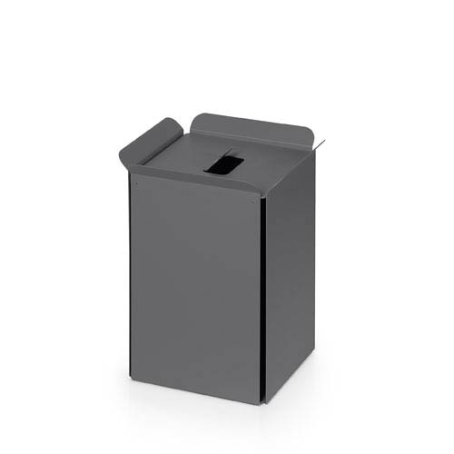 WS Bath Collections Complements Dark Grey Bathroom Waste Basket