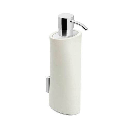 WS Bath Collections Belle Polished Chrome and Matt White Bathroom Soap Dispenser