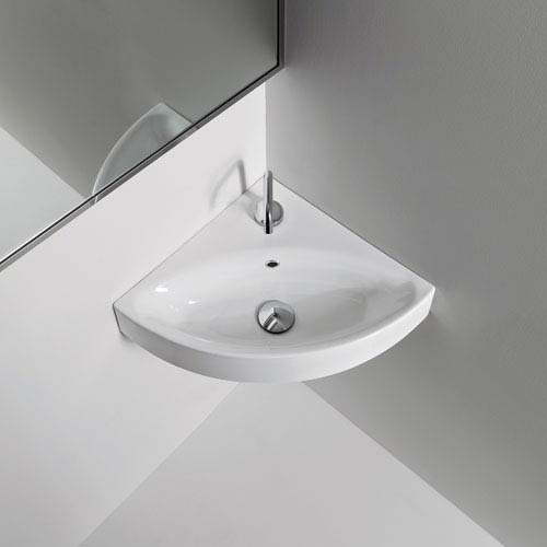 WS Bath Collections Kerasan White Bathroom Countertop Sink Only