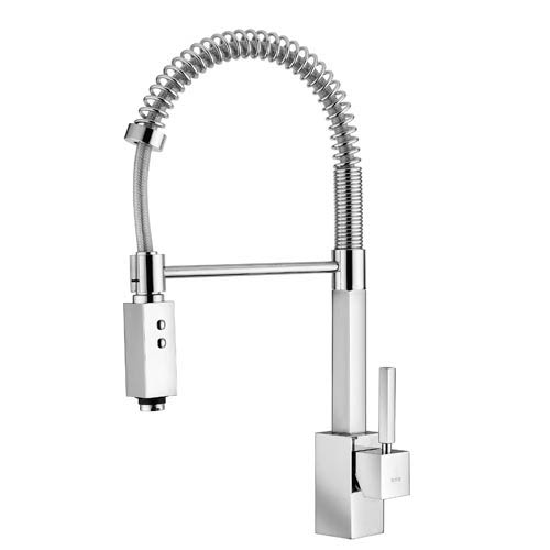 Fonte Domino 176 Polished Chrome Kitchen Sink Faucet With Pull Down