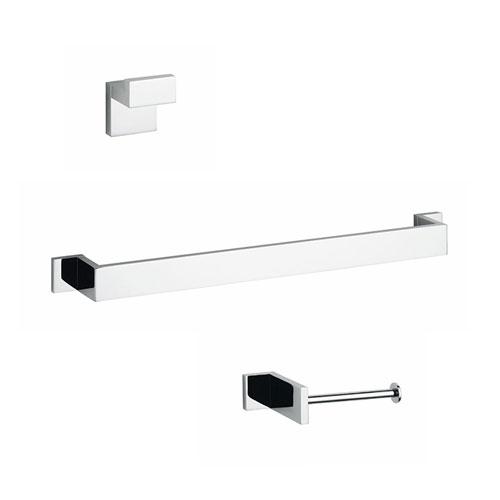 Demetra Bathroom Accessory Set in Polished Chrome