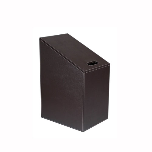 WS Bath Collections Diagonal Laundry Basket in Dark Brown