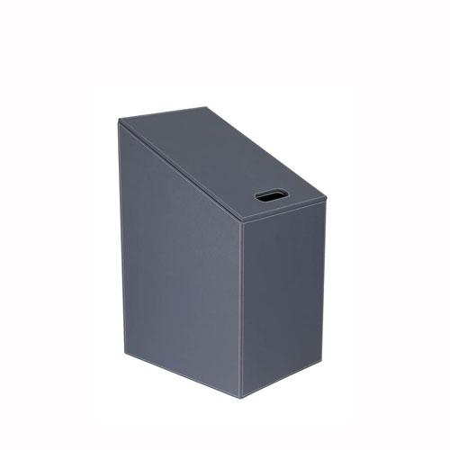 WS Bath Collections Diagonal Laundry Basket in Dark Grey