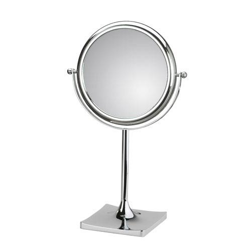Discolo Polished Chrome 7.1-Inch Free Standing Magnifying Makeup Mirror w/ 6X Magnification