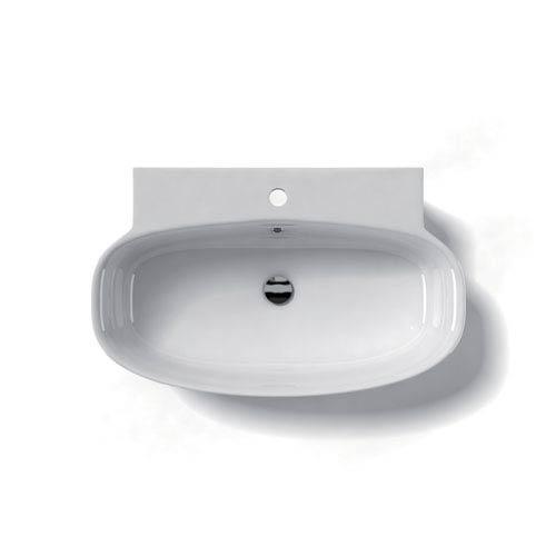Ceramica Valdama White Bathroom Wall-Mounted or Countertop Sink