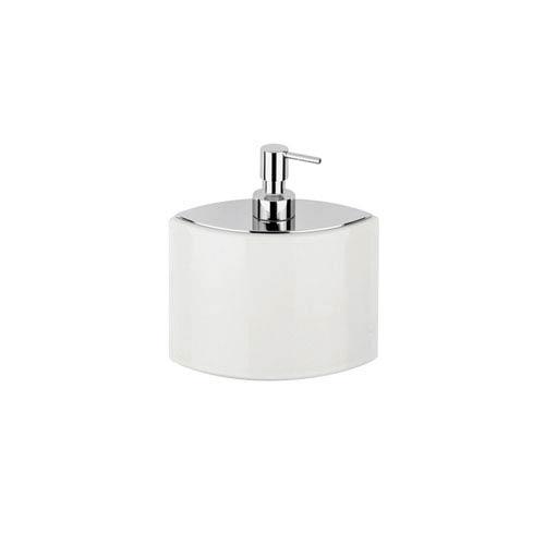 Glam Soap Dispenser in White Ceramic