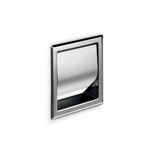 Hotellerie Built-in Toilet Paper Holder with Cover in Stainless Steel