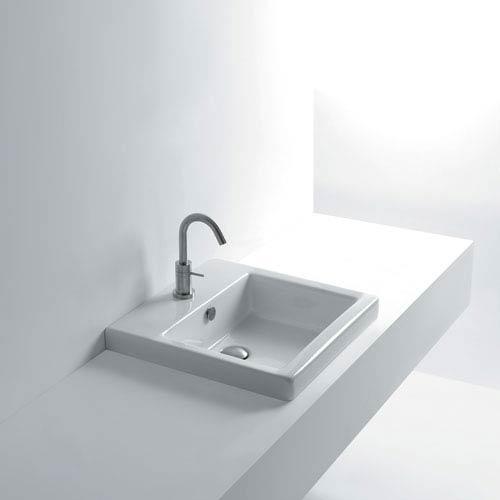 WS Bath Collections Hox Recessed Bathroom Sink