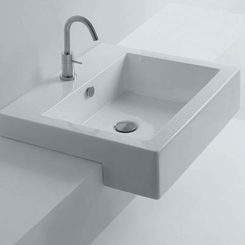 Hox Semi-Recessed Bathroom Sink