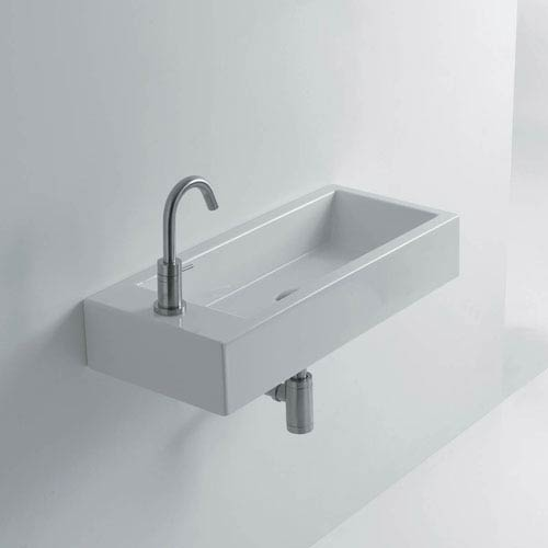 Hox 20 Inch Ceramic Wall Mounted Bathroom Sink