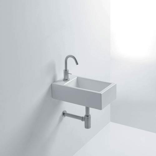 Mini Vessel Bathroom Sinks.Ws Bath Collections Hox Mini Wall Mounted Vessel Bathroom Sink Hox