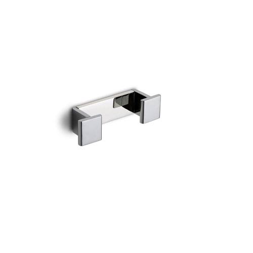 Icselle Double Bathroom Hook in Chromed Aluminum