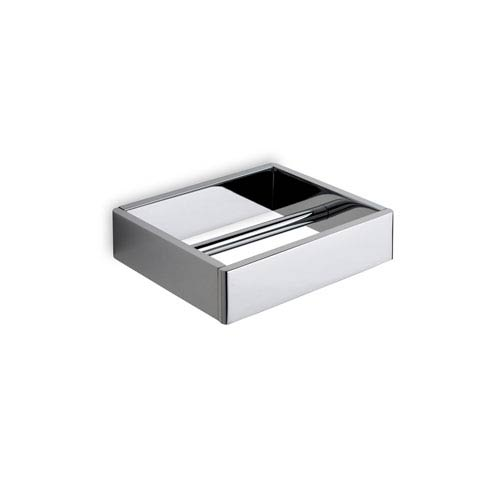 WS Bath Collections Icselle Toilet Paper Holder in Chromed Aluminum