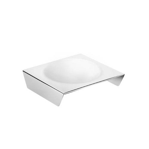WS Bath Collections Kubic Class Polished Chrome Bathroom Soap Dish