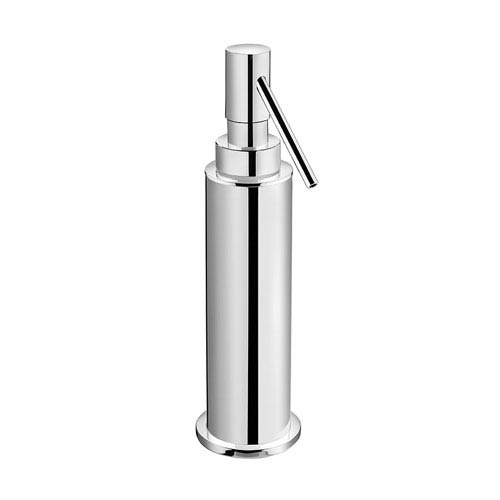 WS Bath Collections Kubic Class Polished Chrome Bathroom Soap Dispenser