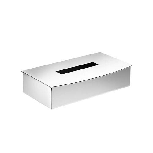WS Bath Collections Kubic Class Polished Chrome Bathroom Tissue Box Holder