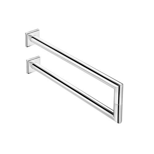 WS Bath Collections Kubic Class Polished Chrome Bathroom Towel Holder
