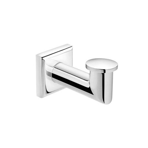 WS Bath Collections Kubic Class Polished Chrome Bathroom Hook