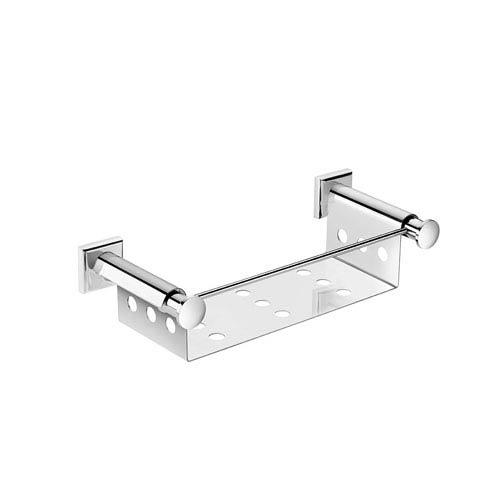 WS Bath Collections Kubic Class Polished Chrome Bathroom Soap Dish