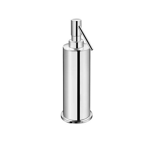 WS Bath Collections Kubic Cool Polished Chrome Bathroom Soap Dispenser