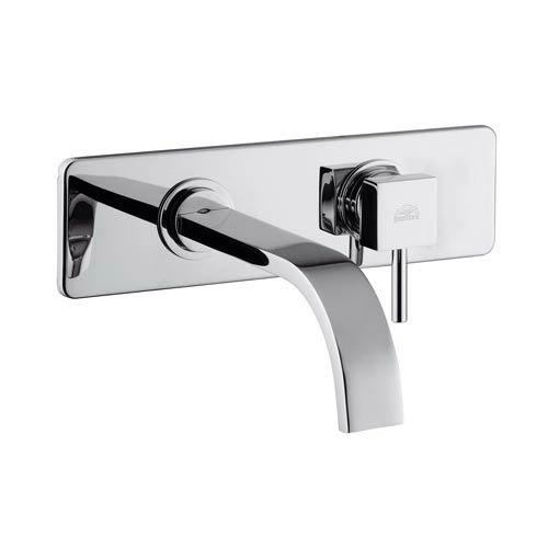 Fonte Level Polished Chrome Concealed Single Hole Bath Faucet with Rectangular Spout
