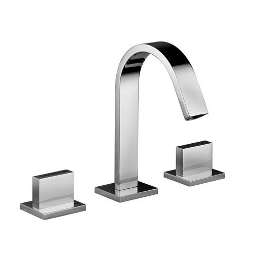 Fonte Polished Chrome Wall Mounted Widespread Bath Faucet