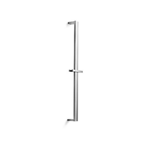 WS Bath Collections Linea Chromed Brass Shower Sliding Rail