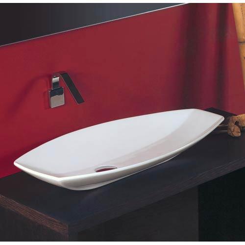 WS Bath Collections Ceramica White 31 x 16 Vessel Sink