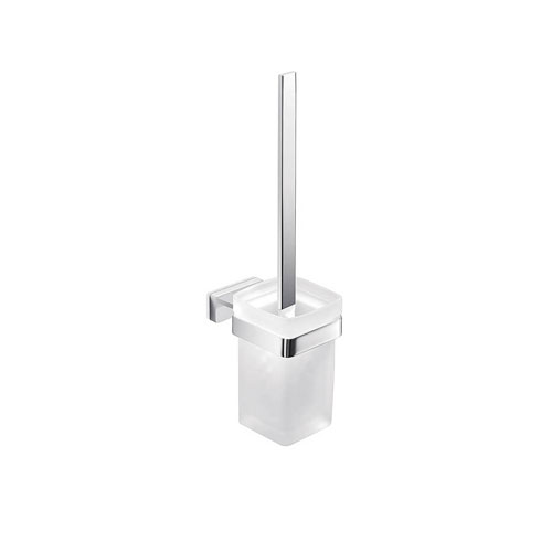 WS Bath Collections Lea Wall Mount Glass Toilet Brush Holder