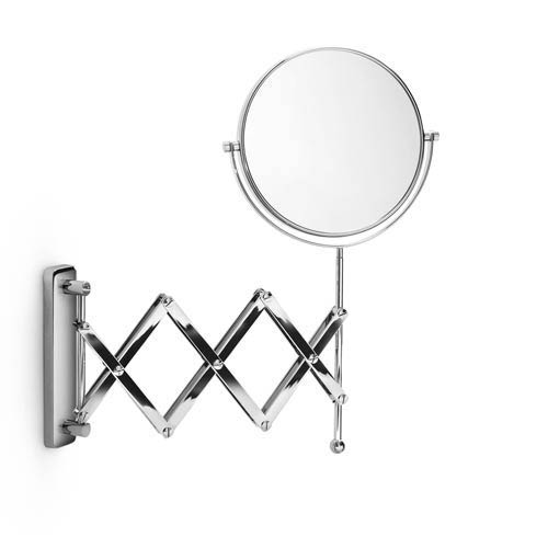 Mevedo Polished Chrome Wall Mounted Magnifying Mirror