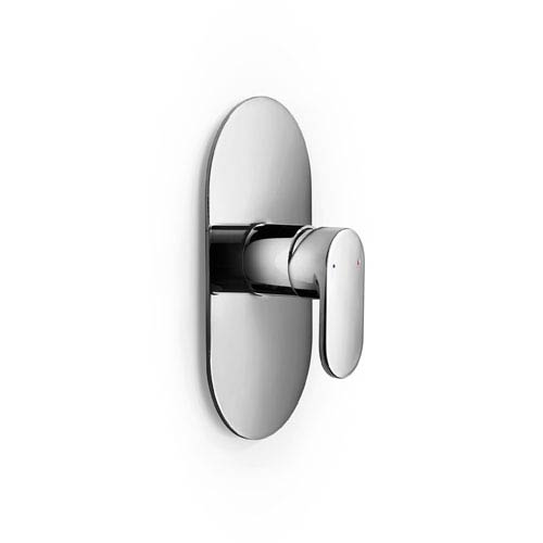 WS Bath Collections Muci Polished Chrome Shower Faucet