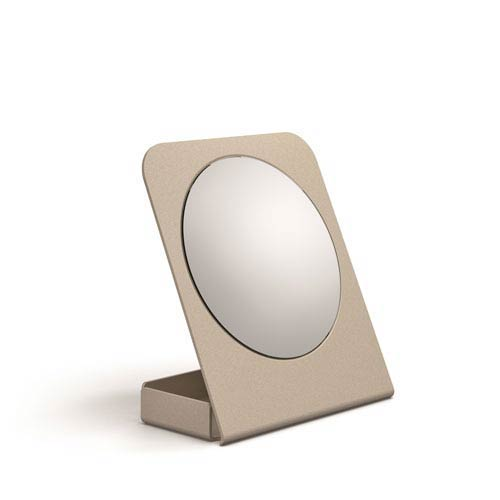 WS Bath Collections Mevedo Magnifying Table Mirror with Container in Sandquartz