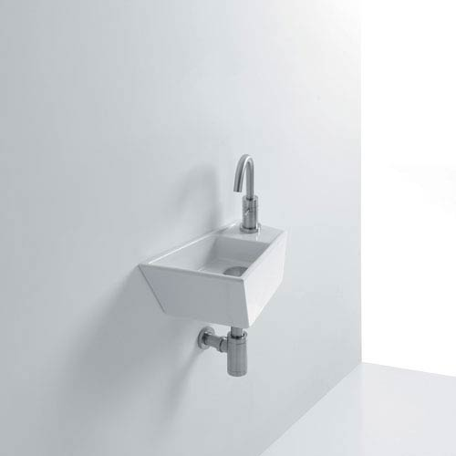WS Bath Collections Micro Wall Mounted Bathroom Sink