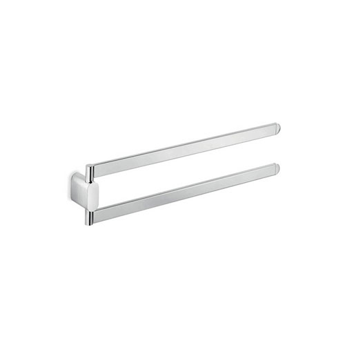 WS Bath Collections Mito Double Swing Towel Bar in Polished Chrome