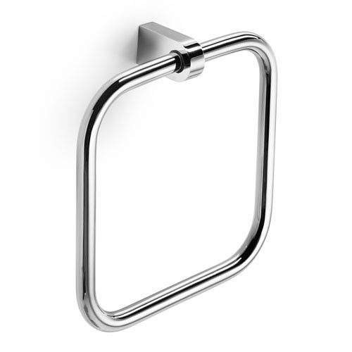 Muci Polished Chrome Bathroom Towel Ring