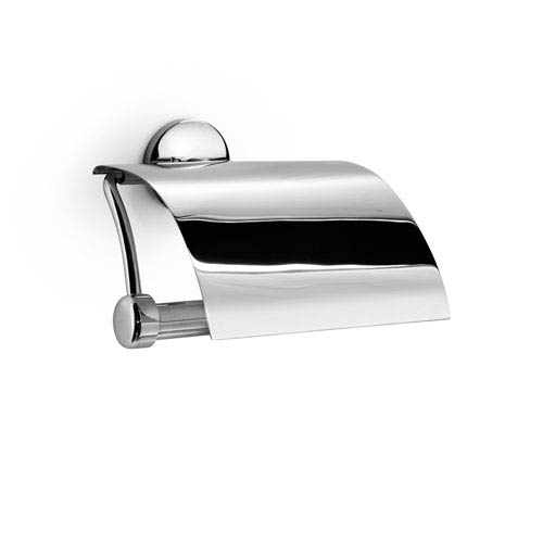 Ws Bath Collections Noanta Polished Chrome Toilet Paper Holder With Cover