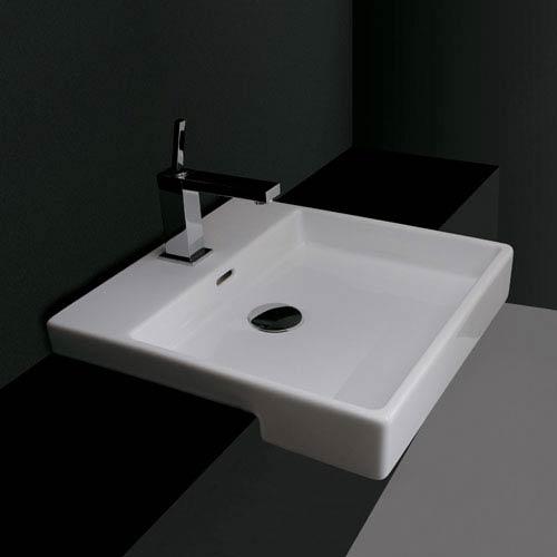 Ceramica Valdama White Bathroom Countertop Sink Only